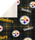 Pittsburgh Steelers Fleece Fabric-Plaid Sherpa