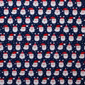 Super Snuggle Flannel Fabric-Santa Faces on Navy