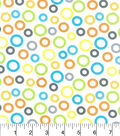 Nursery Cotton Fabric -Zoo Midtone Circles