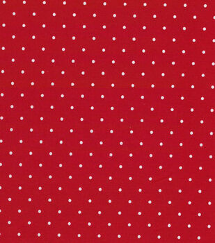 """Quilter's Showcase Cotton Fabric 44""""-Red Dot"""