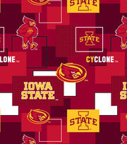 Iowa State University Cyclones Cotton Fabric 43''-Modern Block, , hi-res