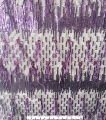 """Gianna Sequin Feather Fabric 55"""""""
