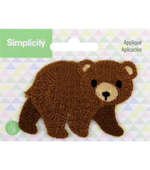 Simplicity Bear Baby Sew-on Applique-Brown