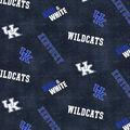 University of Kentucky Wildcats Cotton Fabric -Distressed Logo