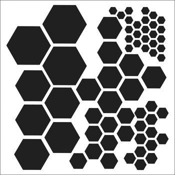 "Crafter's Workshop Template Hexagons 6"" x 6"""