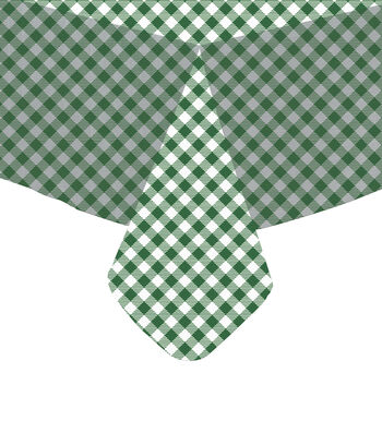 "Tablecloth Vinyl 54""-Gingham Check Hunter"