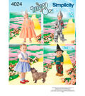 Simplicity Pattern 4024A Wizard of Oz Toddler Costumes-Size 1/2-1-2-3