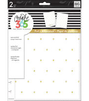 The Happy Planner Classic Snap-In Hard Cover Planner-White & Gold Dots, , hi-res