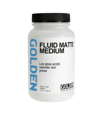 Golden Fluid Matte Medium 8oz.