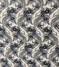 Casa Embellish Jewel Floral Embroidered On Mesh Fabric-Blueprint