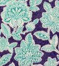 Luxe Fleece Fabric -Seafoam Floral