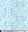 Snuggle Flannel Fabric 42\u0022-Lunar Rock Damask