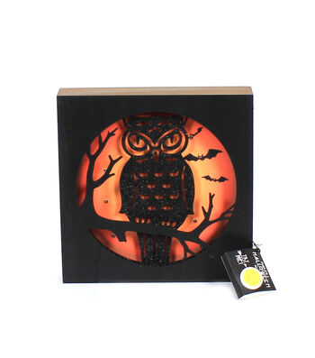 Maker's Halloween Spooky Owl Wall Decor