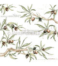 Alexandra Renke Cooking Paper 12\u0022X12\u0022-Olive Branches