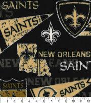 New Orleans Saints Fleece Fabric-Retro, , hi-res