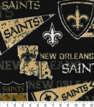 New Orleans Saints Fleece Fabric-Retro