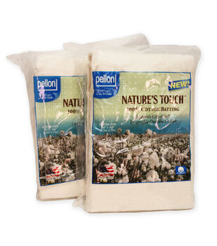 Pellon NCP-906TW Nature's Touch 100% Cotton Batting, Queen-Sized Twin Pack
