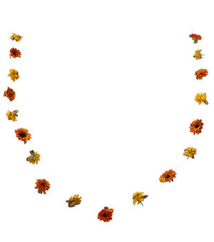 Blooming Autumn 60'' DIY Floating Paper Flower Garland-Orange