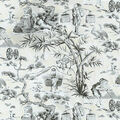 Waverly Multi-Purpose Decor Fabric 54\u0022-Haiku Toile/Noir