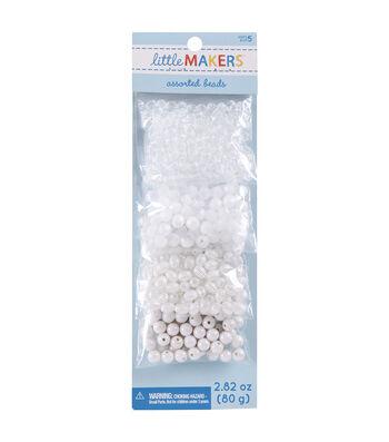 Little Maker's Round Beads-White