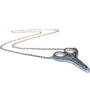 Sullivans 3.5'' Heirloom Embroidery Scissors Pendant-Silver