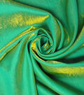 Yaya Han Cosplay Dual Fantasy Dupione Fabric 57\u0027\u0027-Emerald & Gold