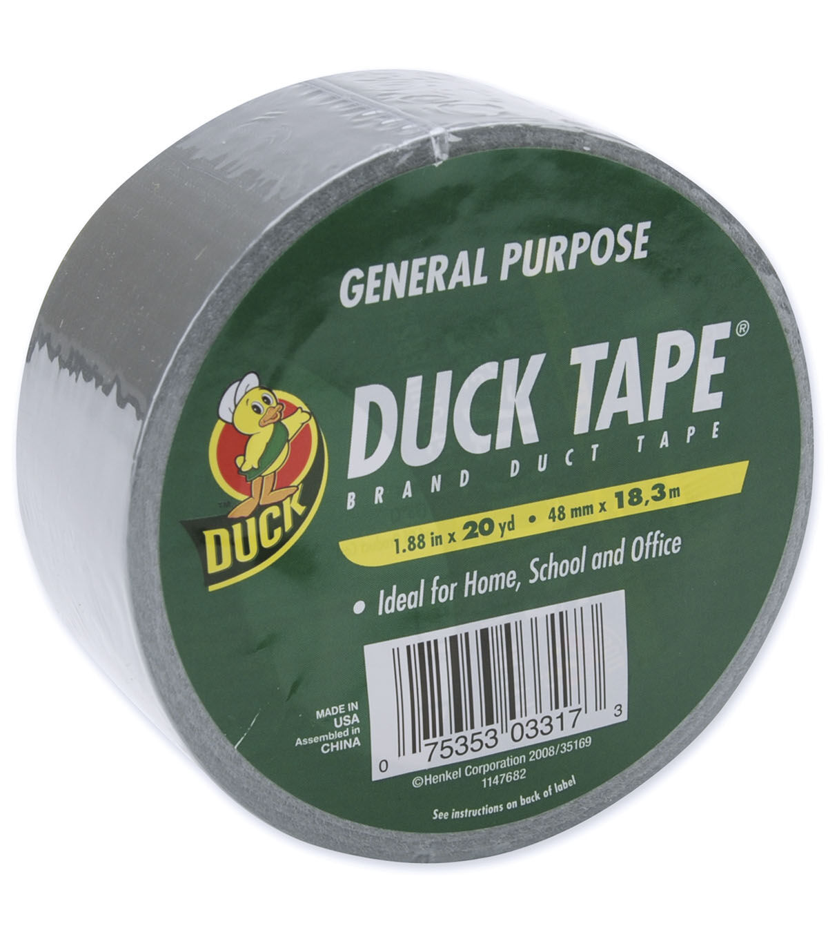 Adhesives, Sealants & Tapes Duck General Purpose Waterproof Self-adhesive Colored Duct Tape Silver Coin Easy To Lubricate Glues, Epoxies & Cements
