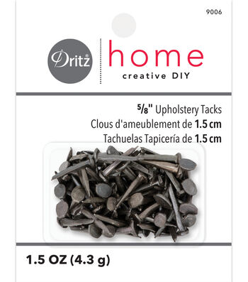 "Dritz Home 0.63"" Upholstery Steel Tacks #10 1.5oz Black"