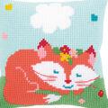 Vervaco 16\u0027\u0027x16\u0027\u0027 Cushion Cross Stitch Kit-Sleeping Fox