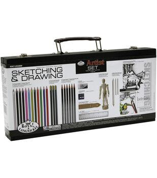 Royal Brush Beginner Drawing Wood Box Set