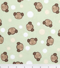 Nursery Fabric Monkey Dot Green