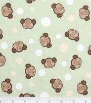 Nursery Fabric Monkey Dot Green, , hi-res