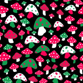 Ditsy Mushrooms