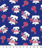 Philadelphia Phillies Cotton Fabric-Logo Blue, , hi-res