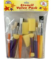 Comtemporary Stencil Brushes-25 Piece Set, , hi-res