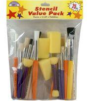 Comtemporary Stencil Brushes-25 Piece Set, , hi-res