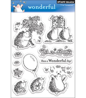 """Penny Black Clear Stamps 5""""X7.5"""" Sheet-Wonderful"""