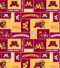 University of Minnesota Golden Gophers Fleece Fabric -Block