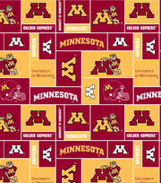 University of Minnesota Golden Gophers Fleece Fabric 58''-Block, , hi-res