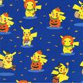 Pokemon Halloween Cotton Fabric-Pikachu