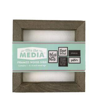 Mix the Media 6''x6'' Rustic Wood Frame