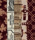 Jelly Roll Cotton Fabric Pack 2.5\u0027\u0027x42\u0027\u0027-Wine