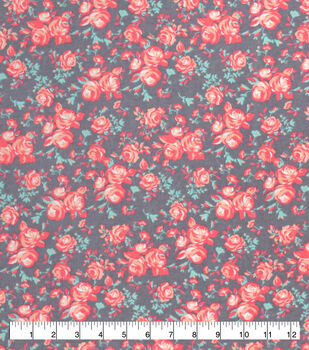 Super Snuggle Flannel Fabric-Coral Vintage Rose
