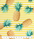 Outdoor Fabric 54\u0027\u0027-Pineapples on Stripes