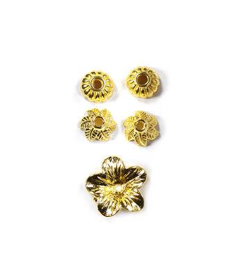 Blue Moon Findings Bead Cap Metal Assorted Flower Gold