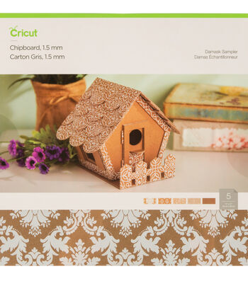 Cricut Chipboard Damask Sampler