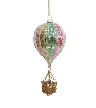 Handmade Holiday Christmas Hot Air Balloon Ornament