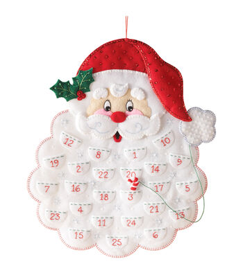 Bucilla Calendar Felt Applique Kit-Santa's Beard Advent