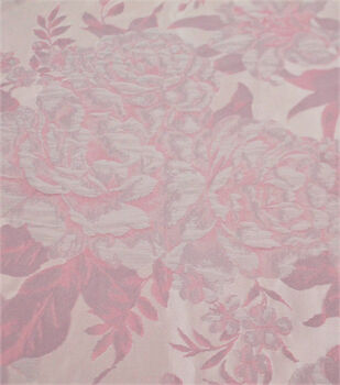 Jacquard Fabric-Puffed Abstract Floral