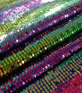 Glitterbug Reversible Sequins Fabric 55\u0022-Rainbow